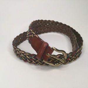 Lee braided leather belt